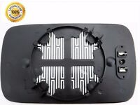 Passenger Side Left HEATED WING DOOR MIRROR GLASS BMW 3 E46 98-05 Clip On