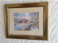 Picture showing winter scene of Bewdley by John Instance