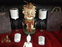 Bundle of Buddhas and candel holders