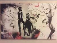 Fleetwood Mac 'Rumours' canvas picture black/red/white 32 x 20 inches