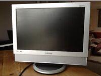 TV screen 19in, silver, requires a digi box