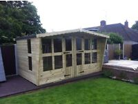Quality 14x8 t&g tanalized summer house