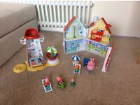 Collection of Peppa Pig Toys (Includes Light house and house plus accessories and figures)