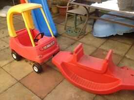 Little Tykes Car and Seesaw
