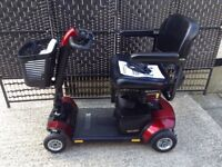 PRIDE GOGO ELITE TRAVELLER LX MOBILITY SCOOTER **USED ONCE** LARGER BATTERY PACK & USER MANUALS