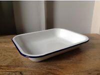 Blue and White Falcon Enamelwear 29cm Pie Dish