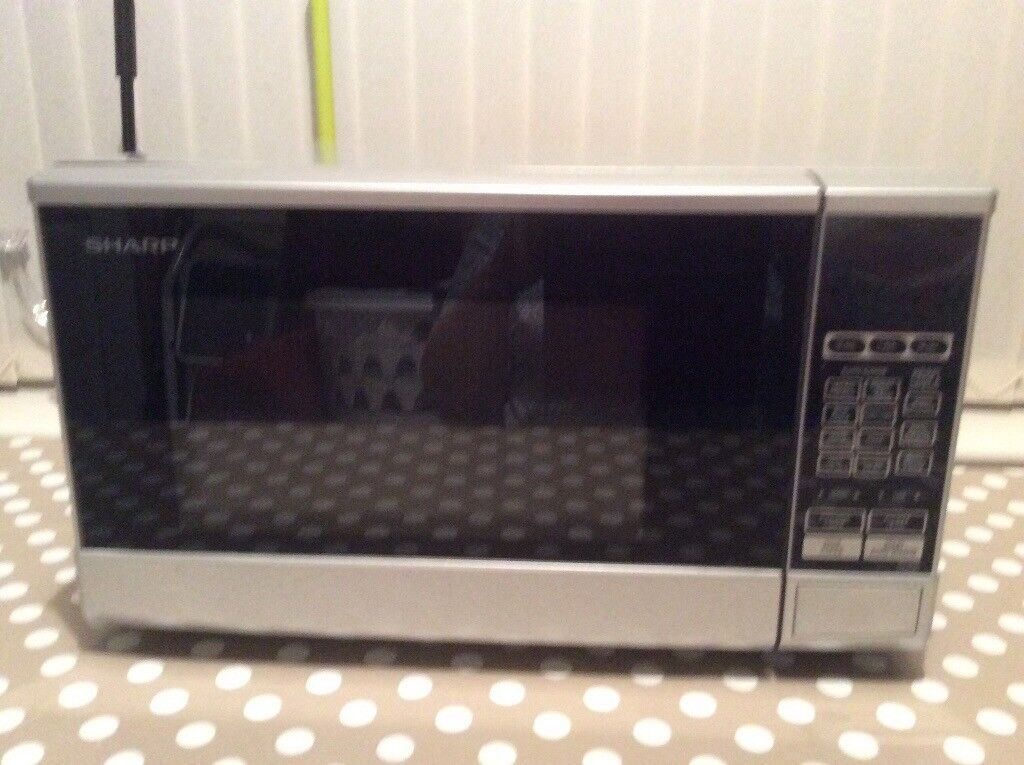 Sharp silver microwave