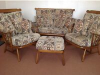 Ercol lounge suite .