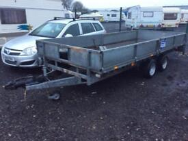 Ifor Williams 2008 16 foot drop side trailer mint condition 8 foot galvanised skids