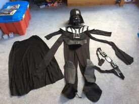 Fancy dress costume Darth Vader age 8-10, very good condition