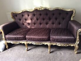 Fab gold and brown sofa