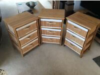 SET OF 3 SMALL CHEST OF DRAWERS