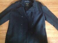 Burton mens coat herringbone pattern tweed xxl overcoat