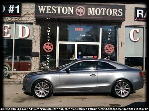 2010 Audi A5 2.0T *AWD *PREMIUM *AUTO *SUNROOF *ACCIDENT FREE!
