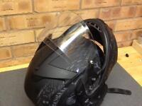Harley Davidson full faced crash helmet.