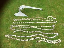 15kg PLOUGH TYPE ANCHOR WITH CHAIN