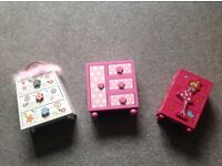 3 Wooden Jewellery Boxes