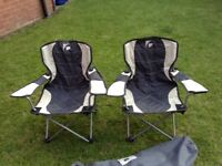 Two children's folding garden/camping chairs