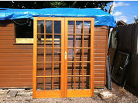 QUALITY TWIN DOUBLE FRENCH GLAZED INTERNAL HARDWOOD DOORS FOR LIVING ROOM SHED GARAGE CONSERVATORY