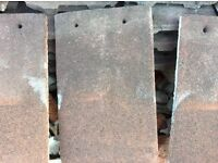 Brown plain roof / wall tiles approx 280. Wick BS30