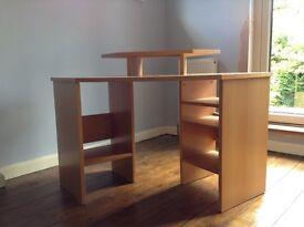 Desk - John Lewicorner desk with in-built shelves