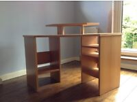 Desk - John Lewis corner desk with in-built shelves