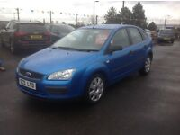 Ford focus ZETEC LX 1.6 2005 facelift model 70000 miles FSH MOT ONE YEAR 5 door blue