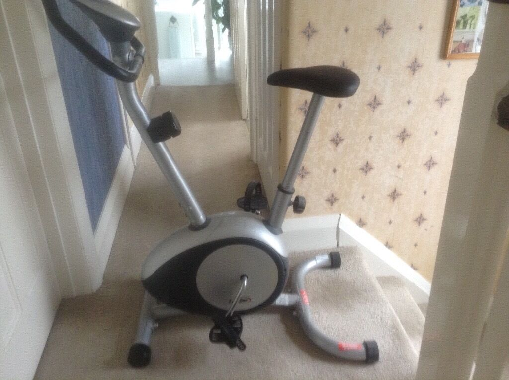 Life Gear Exercise Bike Adjustable Tension Control And