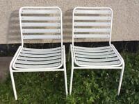 2 Outdoor Garden Chairs