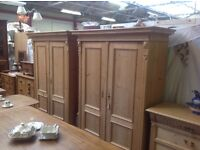 Old pine Dutch wardrobe/cupboard