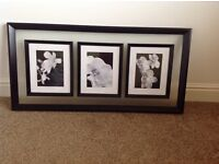 Modern picture print in black and white.