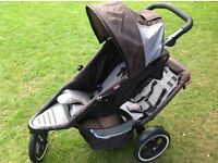 Phil & Teds Dash buggy with doubles kit and full raincover