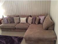 Corner sofa and snuggle seat set