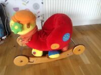 Rocking horse (snail) mamma and pappa/ push along