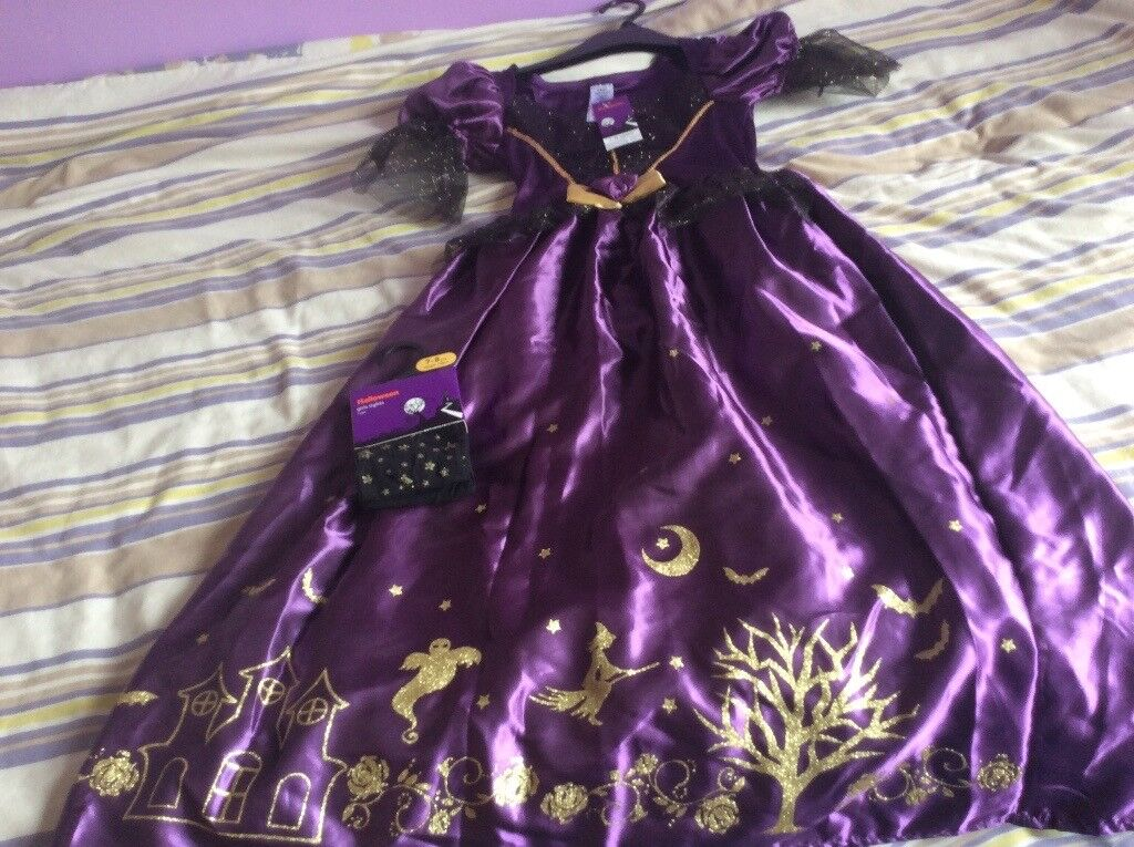 Brand new witches Halloween costume age 7-8