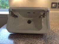 Bathroom or cloakroom wall hung basin. 500mm X 300mm