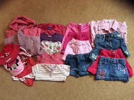 Bundle of girls clothes aged 18-24 months