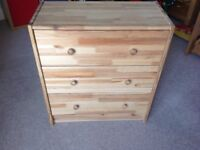 Small pine IKEA chest of 3 drawers.