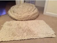 Bean bag and rug