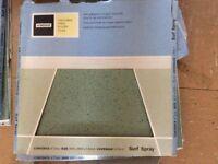 Eggshell blue vinyl floor tiles x 15 homebase