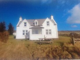 Beautiful Isle Of Skye Croft House, enjoying panoramic sea view across to North Uist.