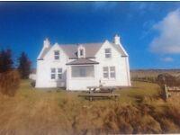Beautiful Isle Of Skye Croft House, enjoying panoramic sea view across to North Uist.