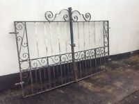 Pair of wrought iron heavy duty driveway gates. Can deliver for FREE