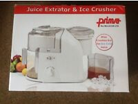JUICE EXTRACTOR and ICE CRUSHER