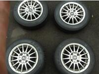 Set of 4 alloy wheels (13inch) and tyres