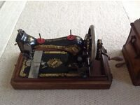 Vintage Style Hand Crank Singer Sewing Machine