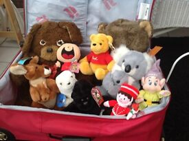 Selection of soft children's toys