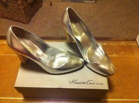 New Silver Leather shoes (Kenneth Cole) Size 5