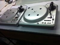 2 x Vestax PDX2300 DJ Turntables Decks + Kam Mixer & Soundlab Ampliefier