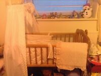 Crib with bedding